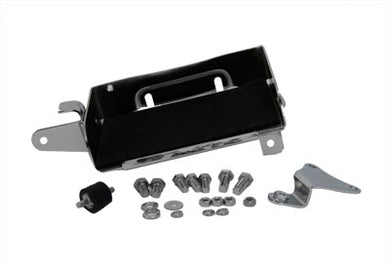 CHROME BATTERY CARRIER KIT FLH 1980/1984