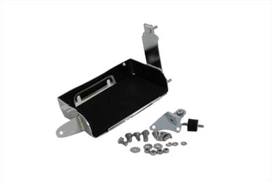 CHROME BATTERY CARRIER KIT FL 1965/1969