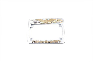 LICENSE PLATE FRAME EAGLE SPIRIT STYLE GOLD INLAY Custom 0/