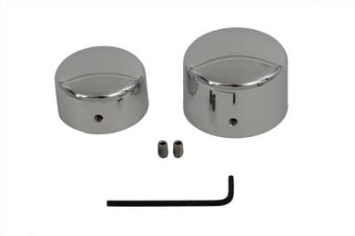 Chrome Rear Axle Nut Cover Set FXST 2008/Up FLST 2008/Up