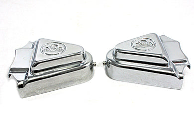 Rear Axle Covers Chrome Skull Design FXST 1986/1999 FLST 1986/1999