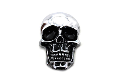 Pewter Skull Emblem Measures 1.5 X 1 With An Adhesive Back