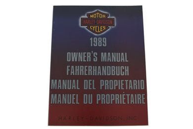 FACTORY SERVICE MANUAL FOR 1989 BIG TWIN INTERNATIONAL FXST 1989/  FLST 1989/  FXR 1989/