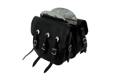 Replica Black Leather Saddlebag Set EL 1936/1940 FL 1941/1946