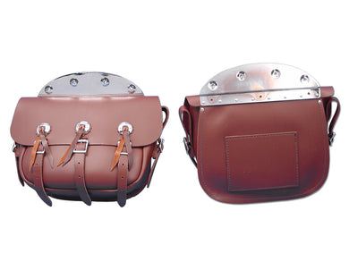 BROWN LEATHER REPLICA SADDLEBAG SET EL 1936/1940 FL 1941/1946