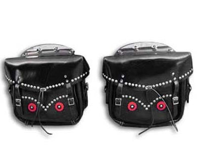 Rigid Loctite Saddlebags Black FL 1945/1948