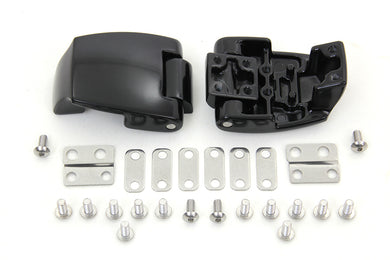 Black Tour-Pak Luggage Hinge Kit FLT 1988/2013