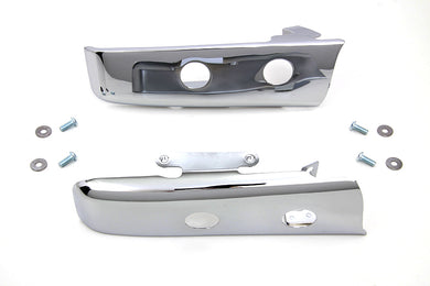 CHROME SLOTTED SADDLEBAG FILLER STRIP KIT FLT 2014/UP