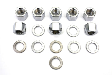 CHROME CYLINDER BASE NUTS AND WASHERS FL 1941/1977 FX 1971/1977 EL 1936/1940