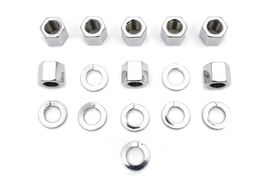 CHROME STOCK CYLINDER BASE NUTS AND WASHERS XL 1957/1985 WL 1929/1952 G 1929/1973