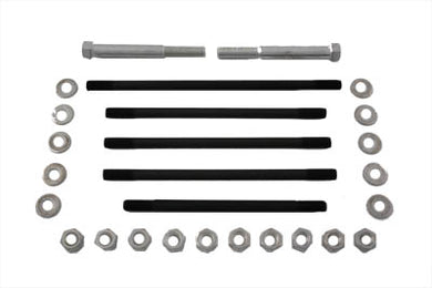 CHROME MOTOR CASE BOLT KIT STOCK UL 1936/1939