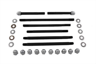 CHROME MOTOR CASE BOLT KIT ACORN UL 1940/1948