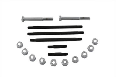 ENGINE CASE BOLT KIT CHROME WL 1937/1952 G 1937/1973