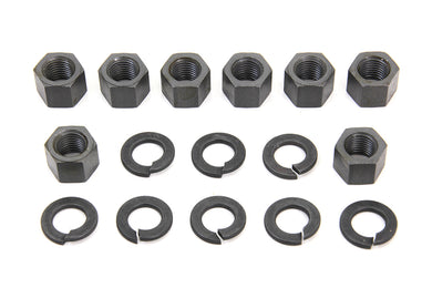 REPLICA CYLINDER BASE NUT KIT PARKERIZED EL 1936/1940 FL 1941/1977 FX 1971/1977 UL 1937/1948