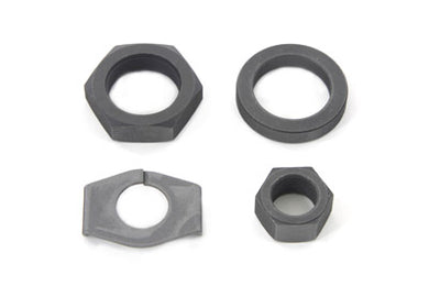 Parkerized Rear Axle Nut And Lock Kit EL 1936/1940 FL 1941/1972 FX 1971/1972 Vl 1930/1936