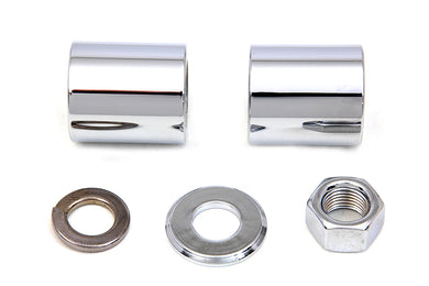 Front Axle Spacer Kit Smooth Style Chrome FLHrc 1994/Up