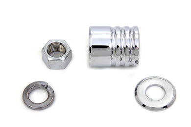 Front Axle Spacer Kit Groove Style Chrome FLSTC 1997/Up