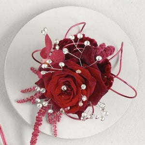 Red Roses Corsage - flowersbypouparina.com