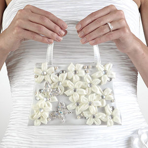 Silk Flower Tote with stefanotties and jewels by Flowers by Pouparina - Flower girl