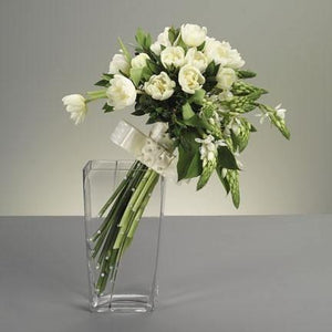 Wedding White Tulip Bouquet - flowersbypouparina.com