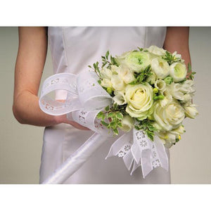 Wedding White Rose & Ranuculus Bouquet - flowersbypouparina.com