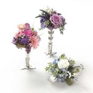 Wedding Duo of Mixed Tussie-Mussie with Roses and Gerbera Daisy - flowersbypouparina.com