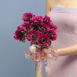 Wedding Silk Anemone Bouquet - flowersbypouparina.com