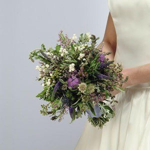 Wedding Herb Bouquet with Lily of the Valley - flowersbypouparina.com