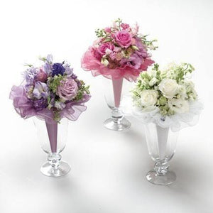Wedding Trio of Purple, White and Pink Bouquets - flowersbypouparina.com