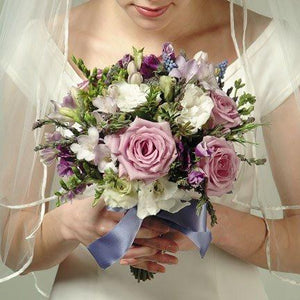 Wedding Lavender Rose and Freesia Bouquet - flowersbypouparina.com