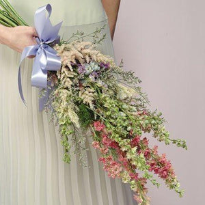 Wedding Larkspur and Wildflower Bouquet - flowersbypouparina.com