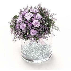 Wedding Lavender Miniature Carnation Bouquet - flowersbypouparina.com