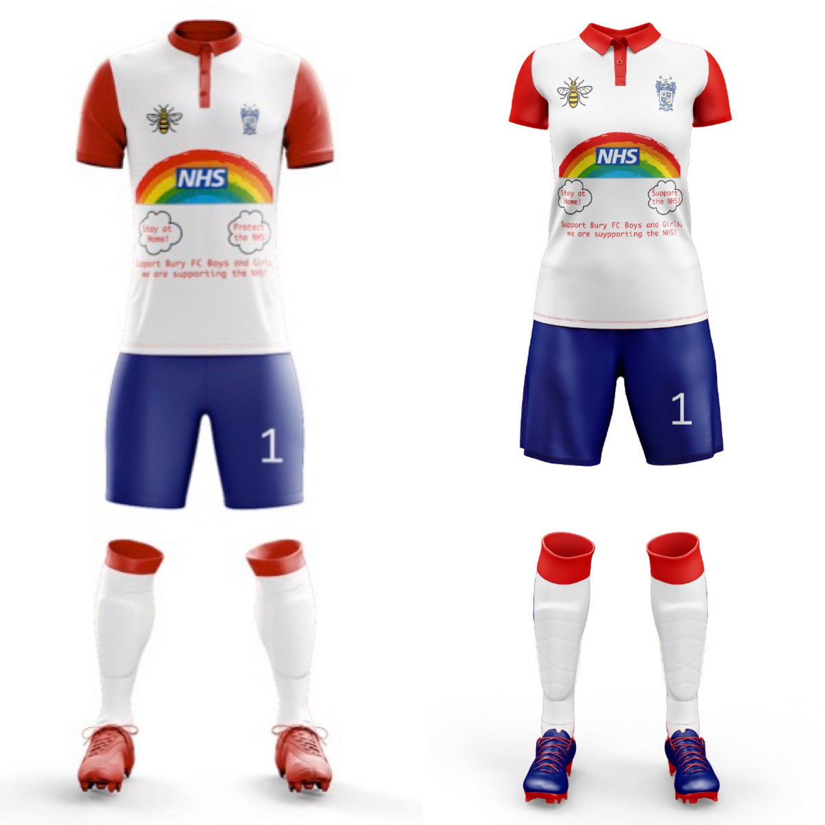 Men's and Women's Football kits