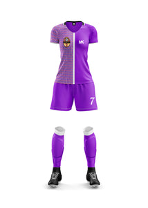 purple girls football kit