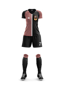 Black and red women's football kit