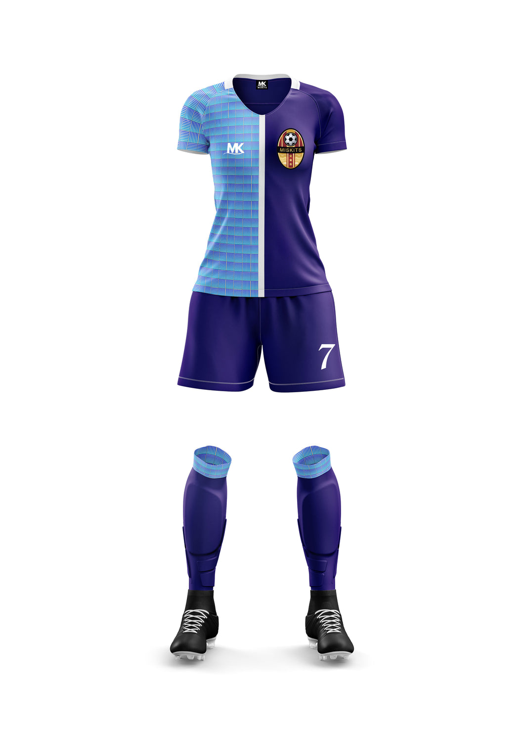 Blue women's football kit