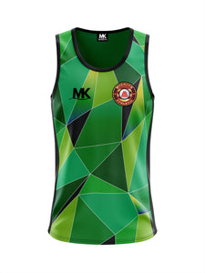 Green cross-fit vest