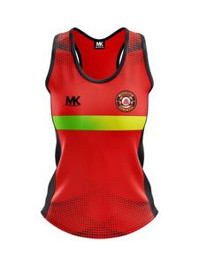 Red and black athletics vest