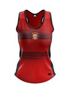 Red athletics vest
