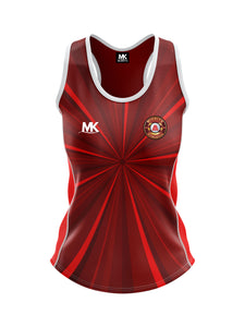 Red cross-fit vest