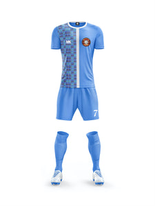 blue boys football kit