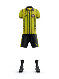 yellow and black men's football kit