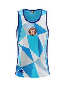 Blue cross-fit vest