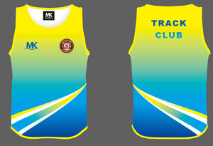 Blue and yellow athletics vest
