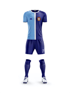 blue mens football kit