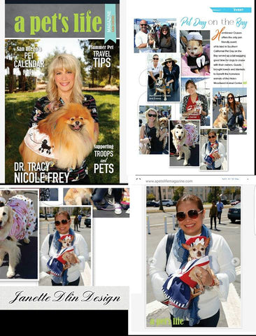 Janette Dlin with Ariel - A Pet's Life Magazine