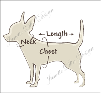Dog Measuring Chart - Janette Dlin Design