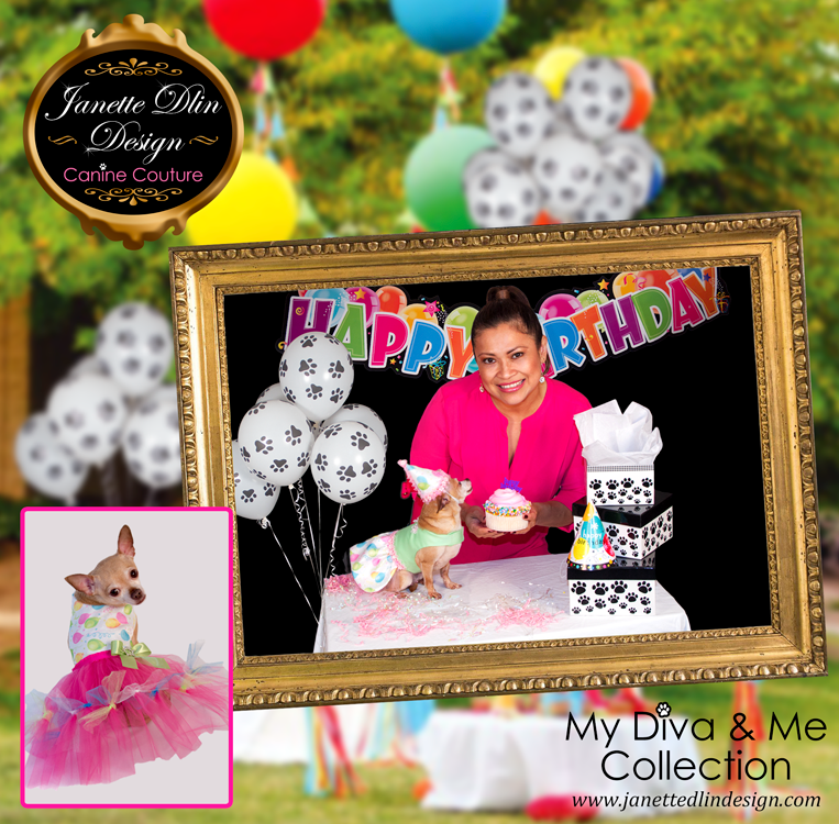 Birthday Dog Clothing - My Diva & Me - Janette Dlin Design