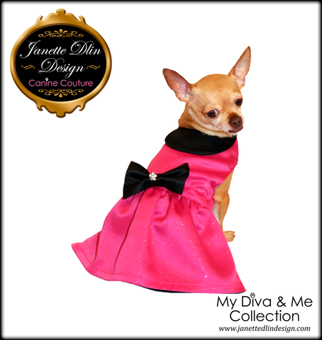 Arabella Fuchsia Dress - Janette Dlin Design - Dog Dress