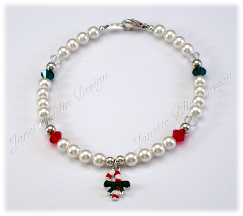 Christmas Peppermint Necklace - Janette Dlin Design - Dog Necklace